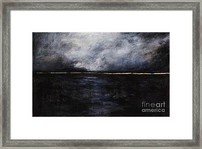 A Break In The Skyline Framed Print by Frances Marino