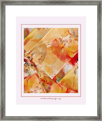 A Breath Of Spring Framed Print by Gayle Odsather