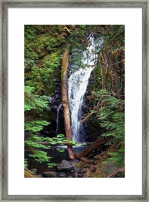 A Breathtaking Waterfall. Framed Print