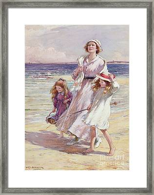 A Breezy Day At The Seaside Framed Print by William Kay Blacklock