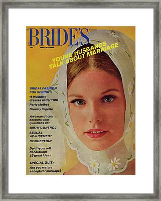 A Bride Wearing A Kerchief By Cahill Framed Print