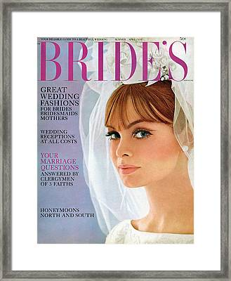 A Bride Wearing Silk Shantung With Shantung Roses Framed Print