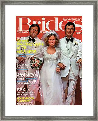 A Bride With Two Grooms Framed Print by Alberto Rizzo