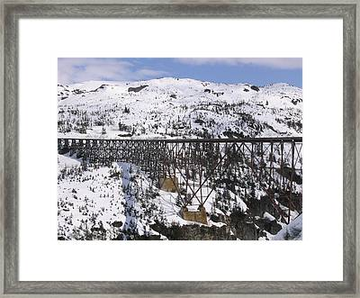 A Bridge In Alaska Framed Print