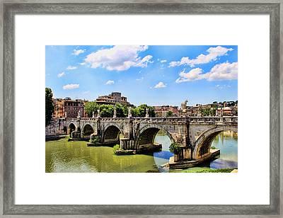 A Bridge In Rome Framed Print