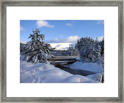 A Bridge In The Snow Framed Print