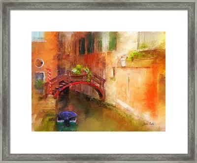 A Bridge In Venice Framed Print by Jane Fiala