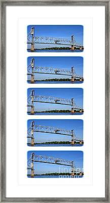 A Bridge Opening Framed Print