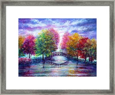 A Bridge To Cross Framed Print by Ann Marie Bone