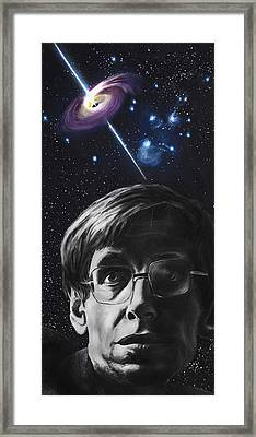 A Brief History Of Time- Stephen Hawking Framed Print by Simon Kregar