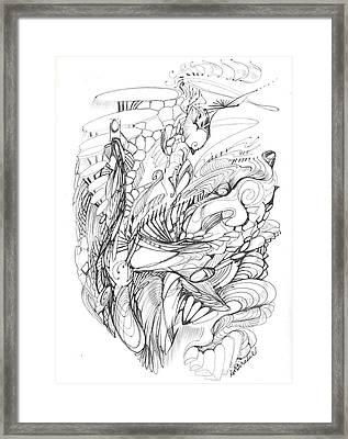 A Brief Peek Framed Print