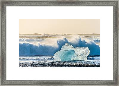 A Brief Respite - Iceland Coast Photograph Framed Print by Duane Miller