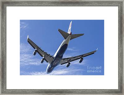 A British Airways Boeing 747 Climbs Framed Print by Rob Edgcumbe