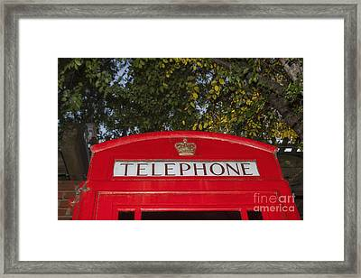 A British Phone Box Framed Print