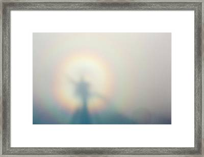 A Broken Spectre On Red Screes Framed Print