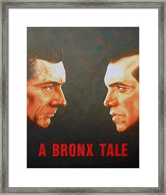 Framed Print featuring the painting A Bronx Tale by Dan Menta