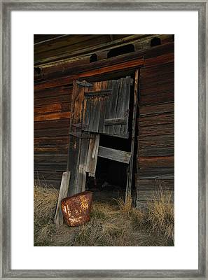 A Bucket And A Door Framed Print by Jeff Swan