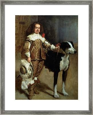 A Buffoon Sometimes And Incorrectly Called Antonio The Englishman Framed Print by Diego Rodriguez de Silva y Velazquez