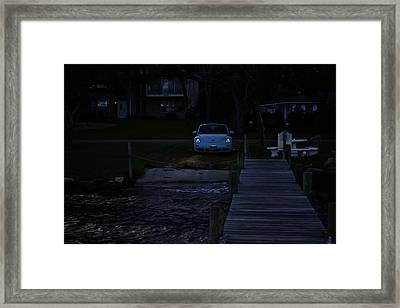 A Bug By The River Framed Print by Victoria Clark
