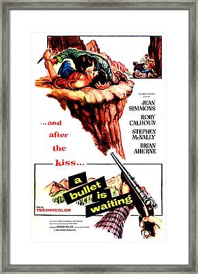 A Bullet Is Waiting, Us Poster Framed Print by Everett