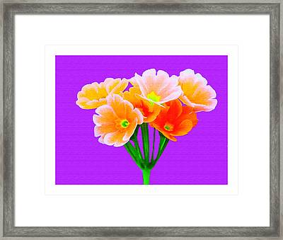 A Bunch Of Beautiful Flowers Framed Print by Ck Gandhi