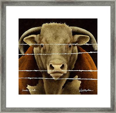 A Bunch Of Bull... Framed Print by Will Bullas