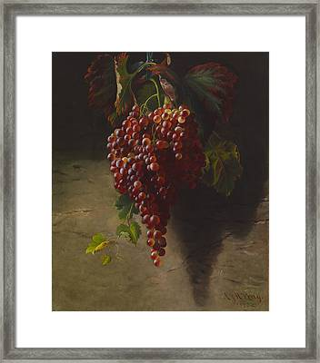 A Bunch Of Grapes Framed Print by Andrew John Henry Way