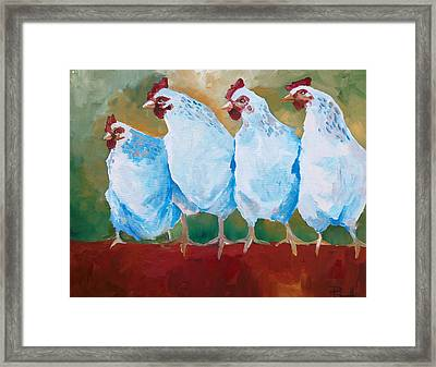 A Bunch Of Old Clucking Hens Framed Print
