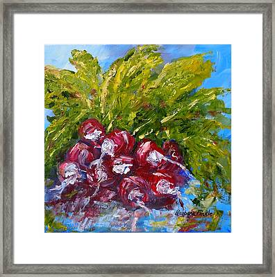 A Bunch Of Radishes Framed Print by Barbara Pirkle