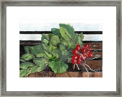A Bunch Of Radishes  Framed Print by Francine Heykoop