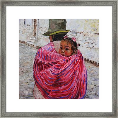 A Bundle Buggy Swaddle - Peru Impression IIi Framed Print