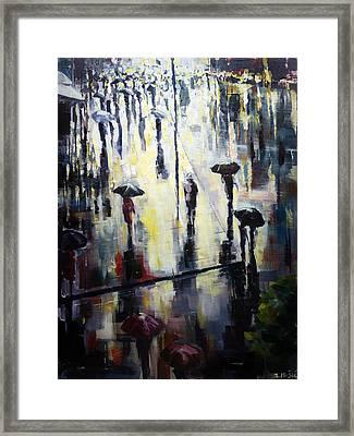 A Burst Of Sunshine On A Rainy Day Framed Print