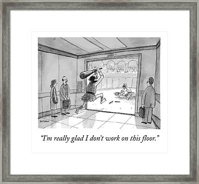 A Business Man Remarks Upon The Floor To Which Framed Print