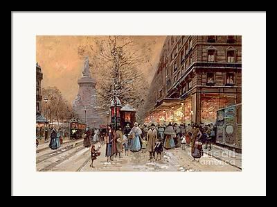 Winter Light Paintings Framed Prints