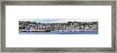 A Busy Harbour And Waterfrontkinsale Framed Print by Peter Zoeller