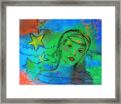 Framed Print featuring the digital art A Busy Mind by Angelique Bowman