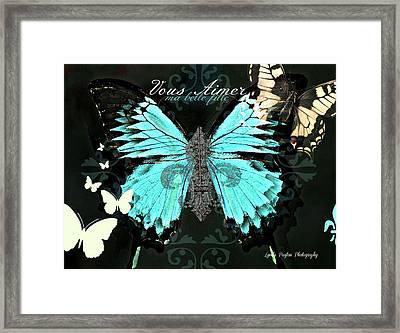 A Butterfly For Terra Framed Print by Lynda Payton