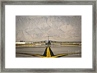 A C-17 Globemaster IIi Taxis Framed Print by Stocktrek Images