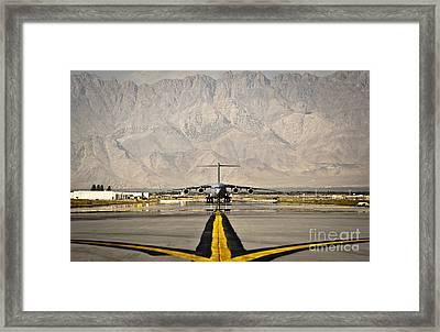 A C-17 Globemaster IIi Taxis Framed Print