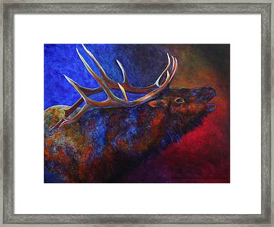 A Call In The Night Framed Print