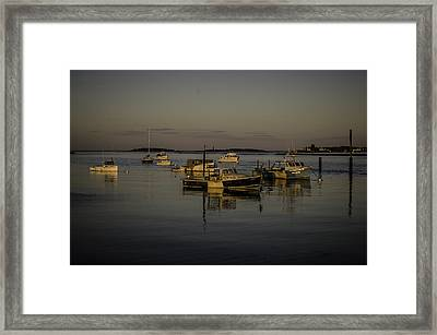 A Calm Evening At Camp Ellis Framed Print by Jonathan Ramsdell