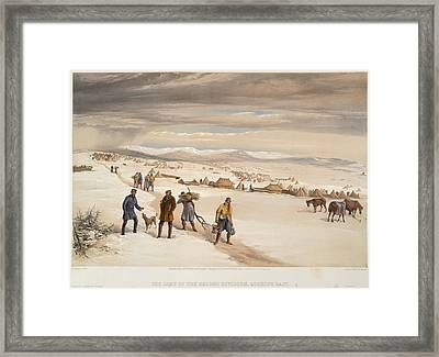 A Camp In The Snow Framed Print by British Library