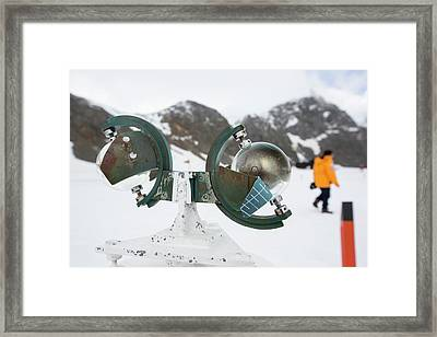 A Campbell Stokes Sunshine Recorder Framed Print by Ashley Cooper