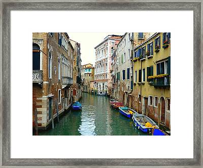A Canal In Venice Framed Print
