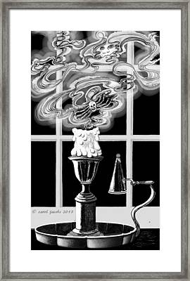 Framed Print featuring the digital art A Candle Snuffed by Carol Jacobs