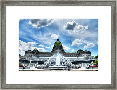 A Capitol Day 2 Framed Print