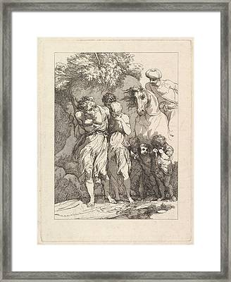 A Captive Family Framed Print