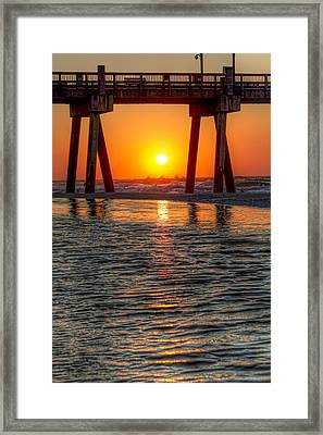 Framed Print featuring the photograph A Captive Sunrise by Tim Stanley
