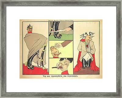 A Caricature Of Wilhelm II Framed Print