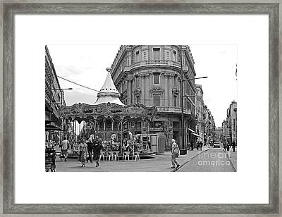 Framed Print featuring the photograph A Carousel by Cendrine Marrouat